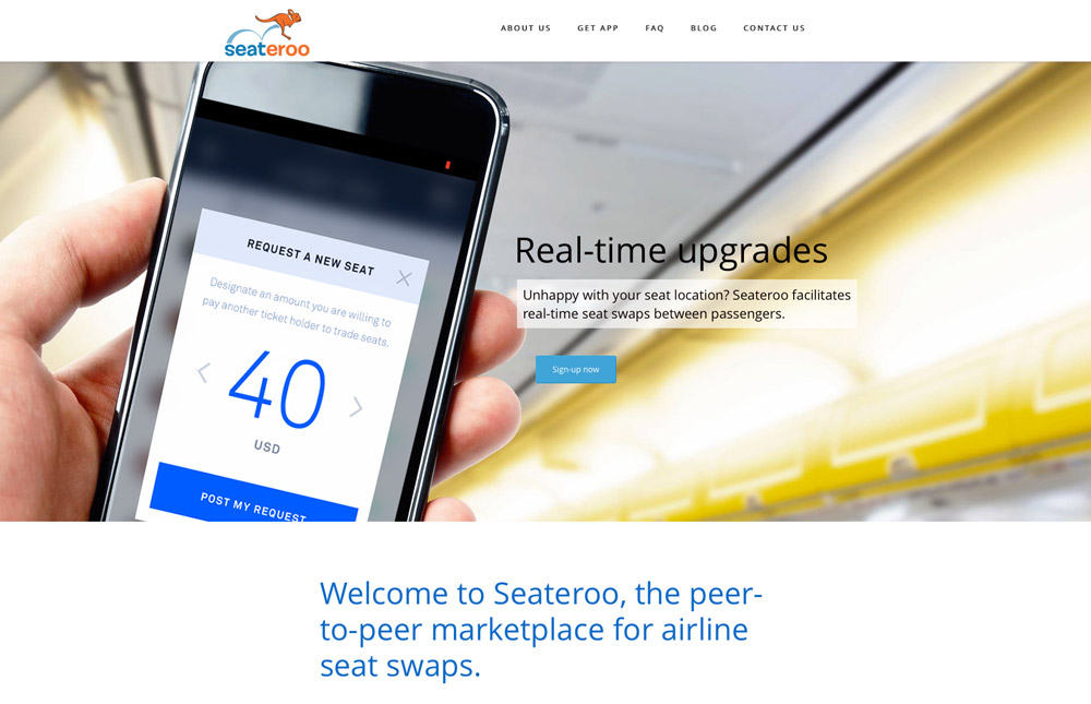 Seateroo Mobile Application Website